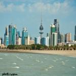 شاطئ الخليج ويظهر بنيان مدينة الكويت